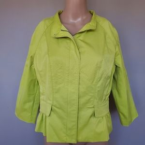 Kenneth Cole lime green vinyl jacket size 10